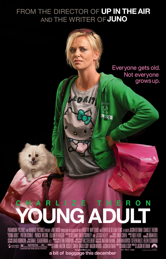 Charlize Theron has an attitude in the poster for Young Adult.