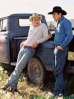(from left) Heath Ledger and Jake Gyllenhaal in Brokeback Mountain