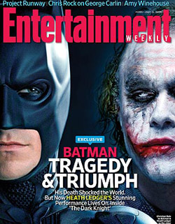 The Dark Knight cover story in the July 11 issue of Entertainment Weekly