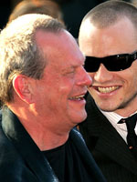 Terry Gilliam and Heath Ledger