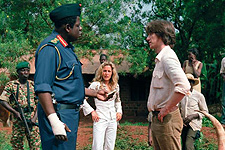 (from left) Forest Whitaker, Gillian Anderson and James McAvoy in The Last King of Scotland