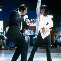 John Travolta and Uma Thurman in Quentin Tarantino\'s Pulp Fiction