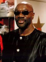 Isaac Hayes on the set of Soul Men