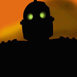The Iron Giant (voiced by Vin Diesel) in The Iron Giant