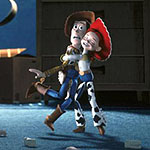 (from left) Woody (voiced by Tom Hanks) and Jessie (voiced by Joan Allen) in Toy Story 2