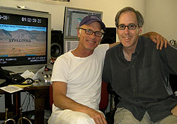 Ed Harris and Jeff Beal in Beal\'s Agoura Hills recording studio