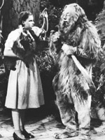 Judy Garland and Bert Lahr in The Wizard of Oz