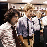 (from left) Dustin Hoffman, Robert Redford and Jason Robards in All the President\'s Men