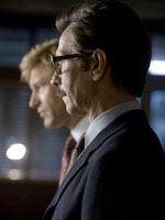 (from left) Aaron Eckhart and Gary Oldman in The Dark Knight
