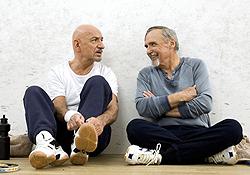 (from left) Ben Kingsley and Dennis Hopper in Elegy