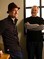 (from left) Brad Pitt and David Fincher