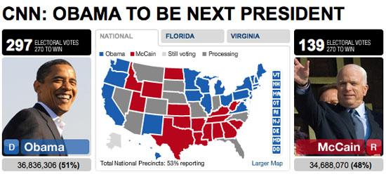 Barack Obama to be next President