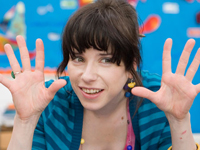 Sally Hawkins in Happy-Go-Lucky
