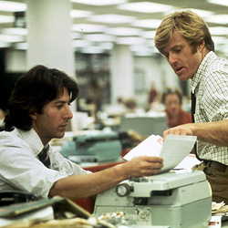 (from left) Dustin Hoffman and Robert Redford in All the President's Men
