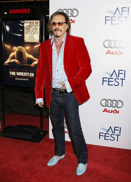 Mickey Rourke at the Los Angeles premiere of The Wrestler