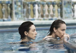 (from left) Elsa Zylberstein and Kristin Scott Thomas in I've Loved You So Long