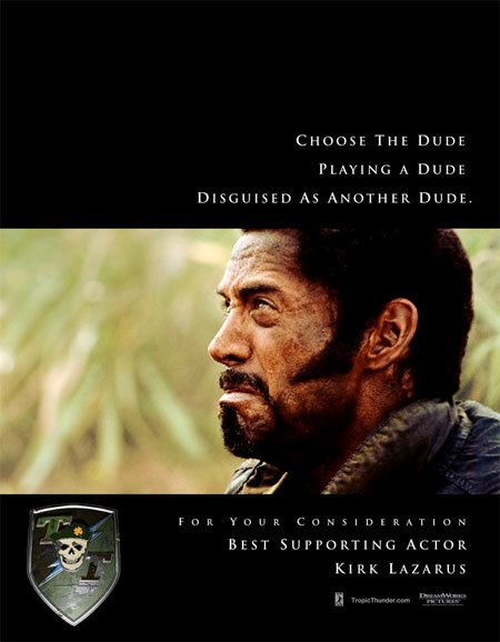 Robert Downey Jr. For Your Consideration ad