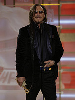 Mickey Rourke at the 66th Annual Golden Globe Awards