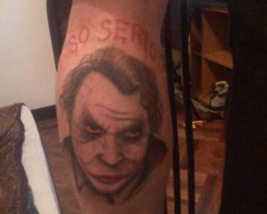 Dark Knight tattoo. And finally, Jordan was quickest to the punch,