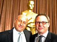 (from left) Laurence Mark and Bill Condon