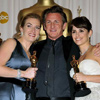 (from left) Kate Winslet, Sean Penn and Penelope Cruz at the 81st annual Academy Awards