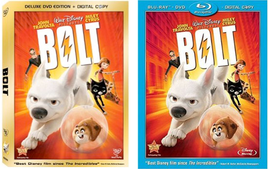 Bolt on DVD and Blu-ray