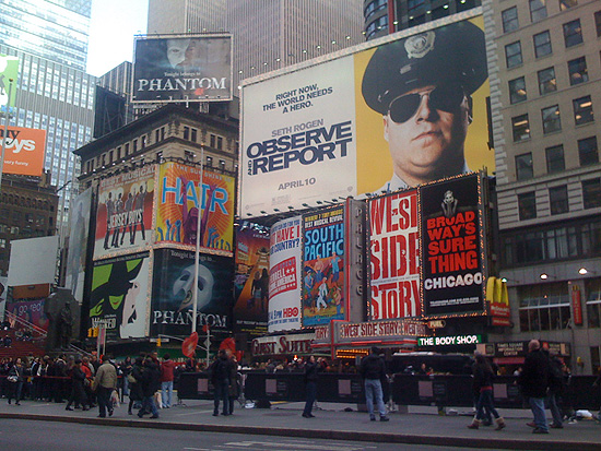 Observe and Report advertisement in Times Square