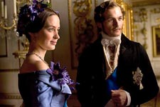 (from left) Emily Blunt and Rupert Friend in The Young Victoria
